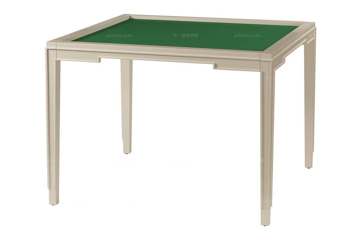 高端品牌美式米色麻将桌