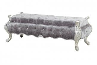 高端别墅装修蓝冠注册奢华新古典床尾凳