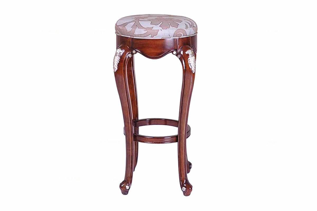 高端实木蓝冠注册美式吧凳
