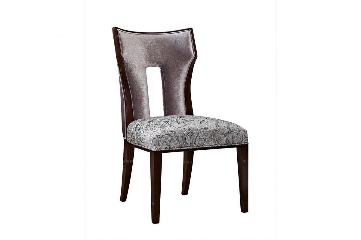 5星级酒店蓝冠注册奢华新古典实木无扶手椅