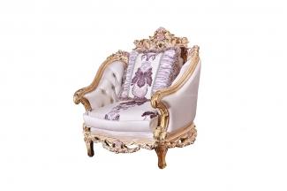 别墅蓝冠注册欧式雕刻单人沙发