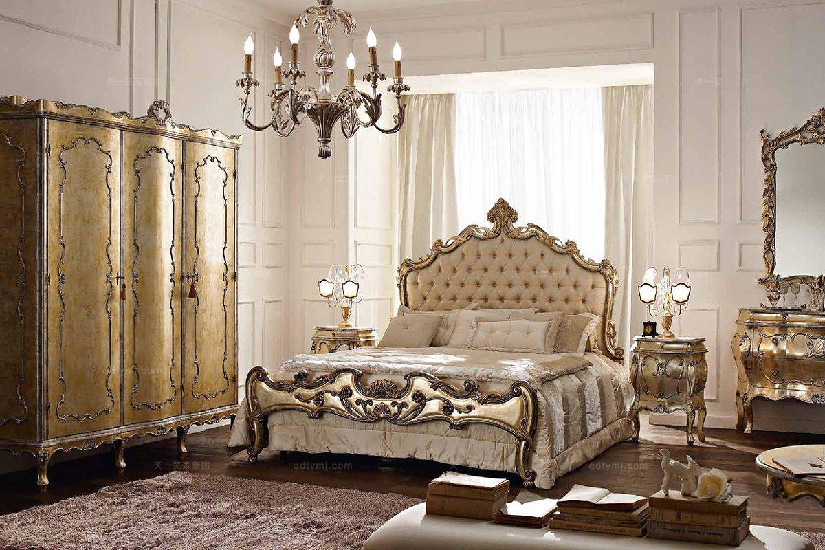 Andrea Fanfani高端品牌欧式雕刻双人床套组