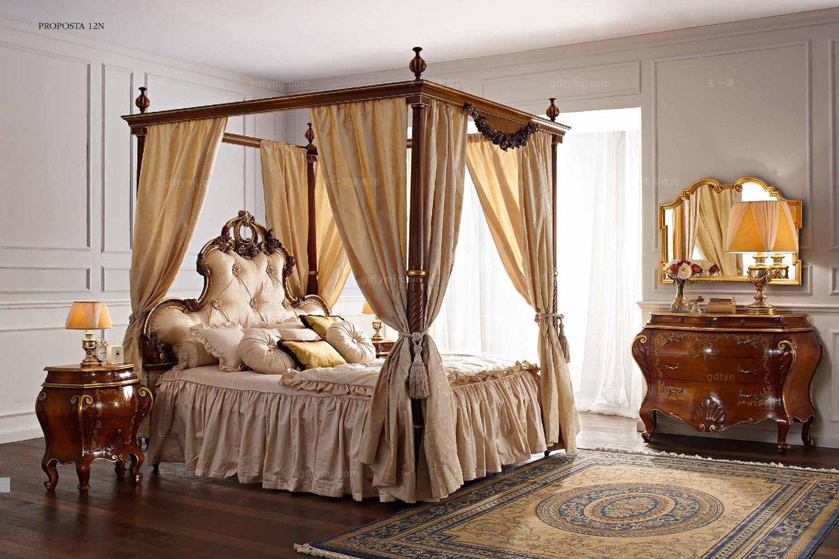 Andrea Fanfani高端品牌欧式雕刻架子床