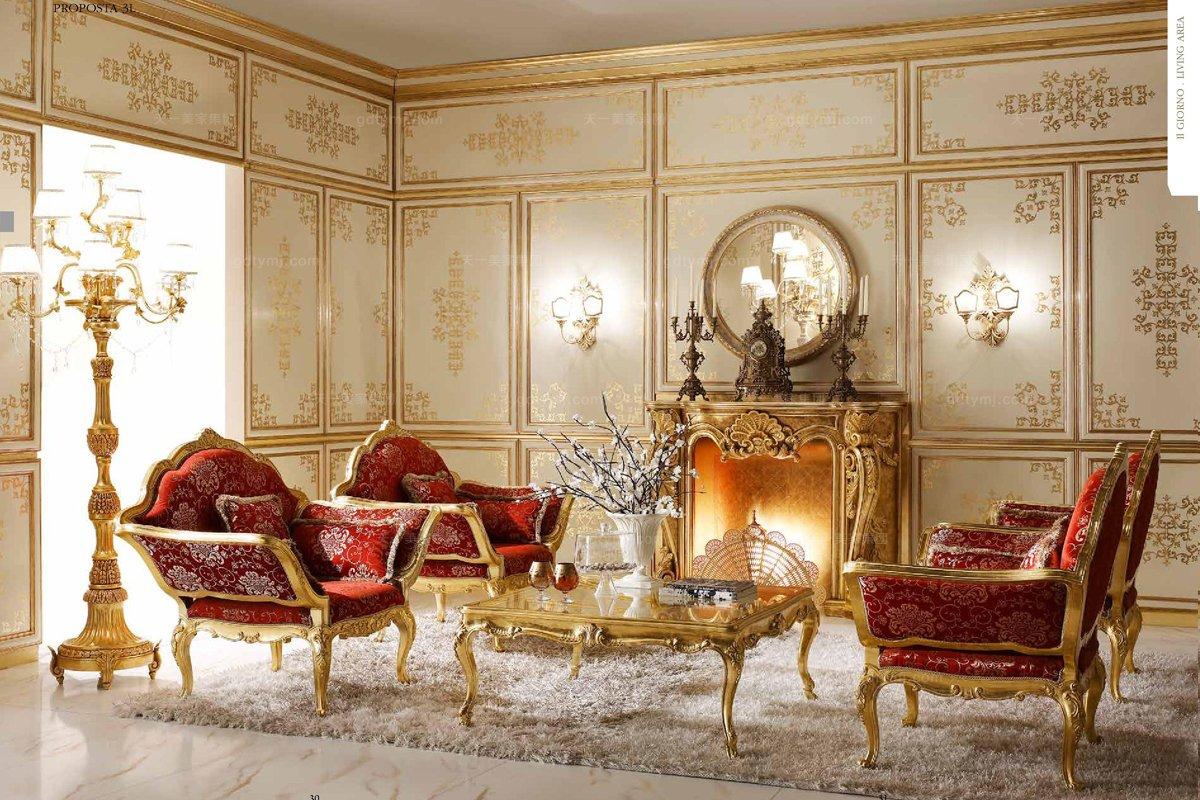 Andrea Fanfani 高端时尚法式布艺沙发套组
