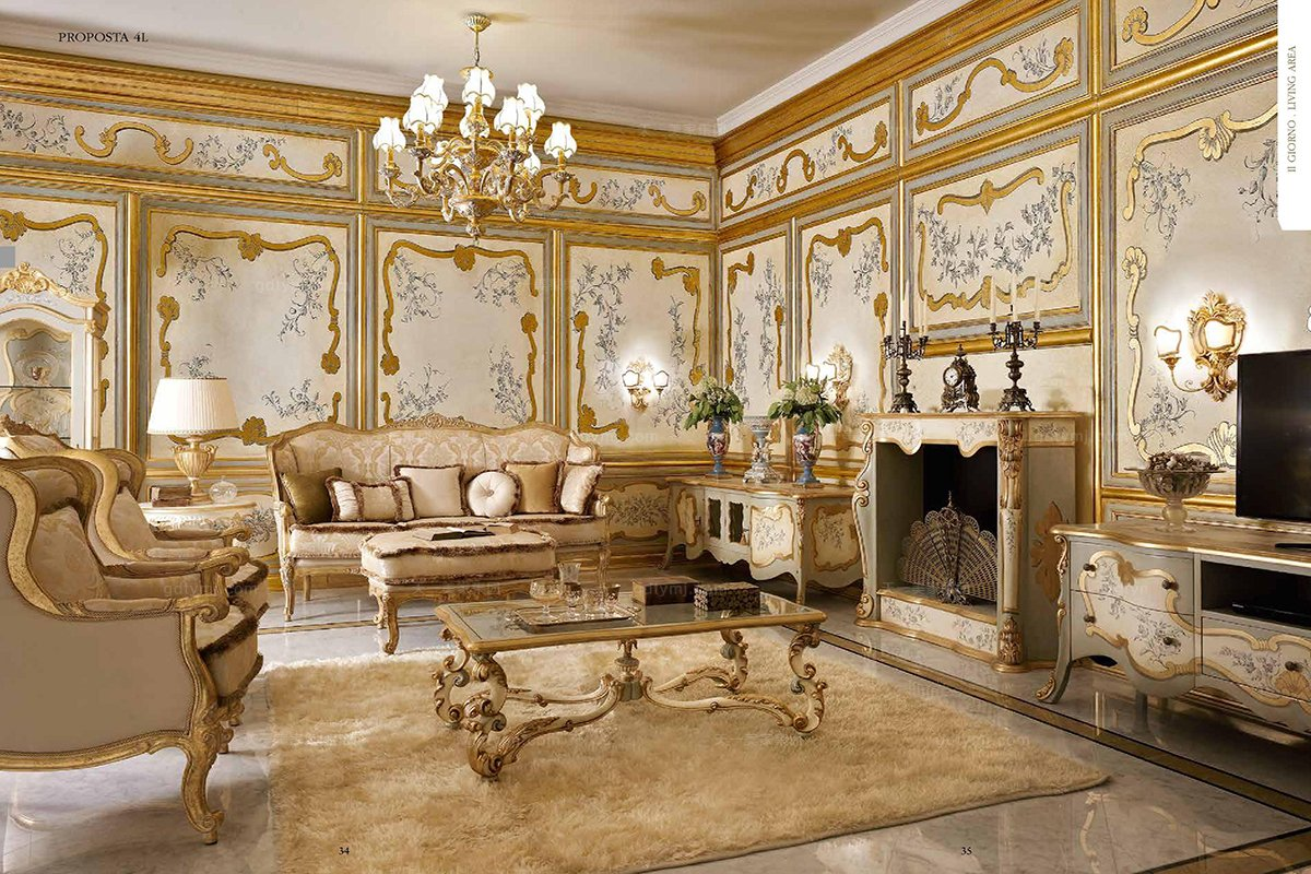 Andrea Fanfani 高端雕刻布艺沙发组合
