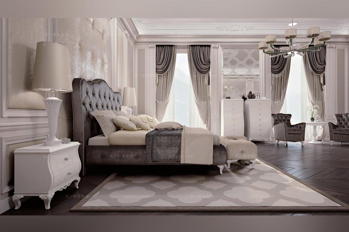 新古典风格蓝冠注册Carpanese新古典卧室布艺系列