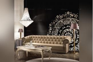 SIGNORINI&COCO后现代金色真皮沙发