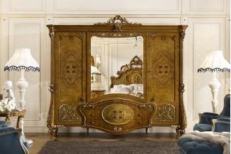Grilli奢华新古典实木雕花衣柜系列