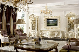 Grilli奢华新古典实木雕花客厅系列