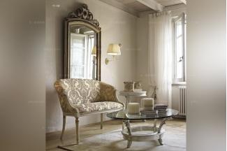 Volpi意大利进口高端品牌法式仿古休闲椅+圆几