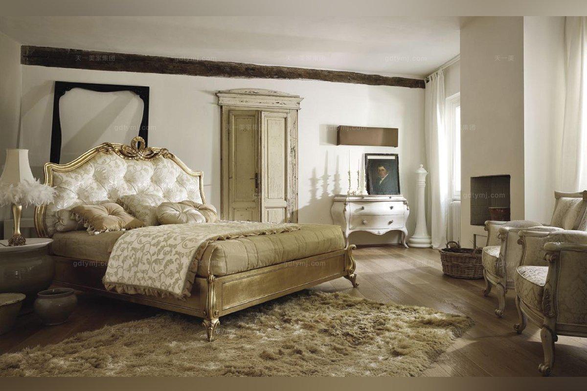 世界名贵蓝冠注册品牌 Volpi意大利进口法式高端品牌雕刻贴泊双人床