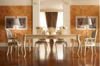 Valderamobili 意大利进口高端时尚法式浅色长餐桌
