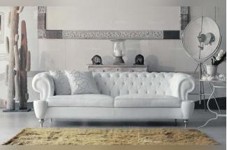 Pigoli 皮沟里白色布艺三位沙发系列