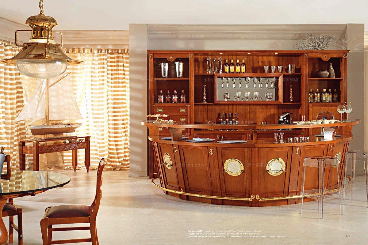 Caroti 卡若缇实木框架露木色酒吧区系列