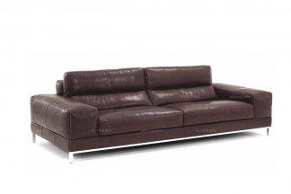 高端品牌现代意大利进口咖啡色二人沙发
