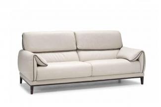高端时尚现代意大利进口白色真皮二人沙发