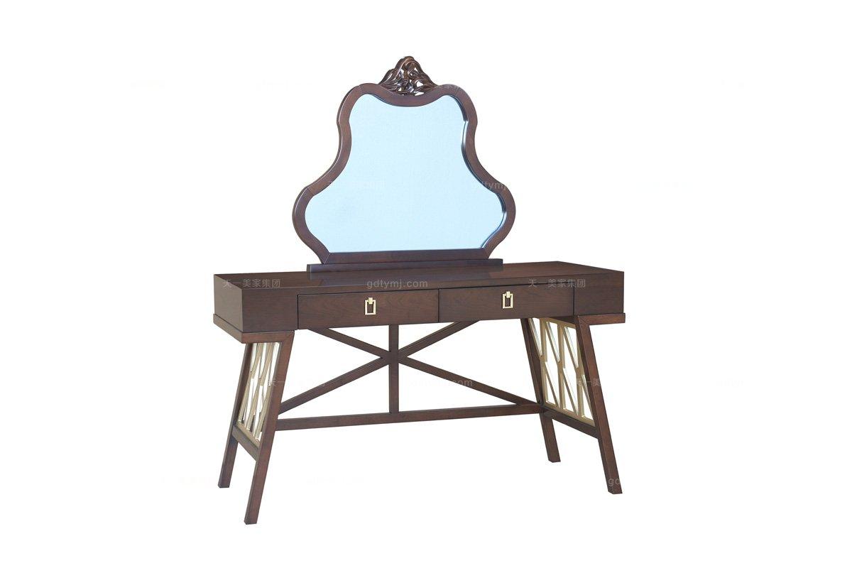 高端蓝冠注册样板房蓝冠注册品牌法式咖啡梳妆台