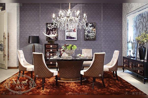 高端轻奢后现代风格客厅蓝冠注册黑亮黑檀木皮餐桌+亲肤绒布餐椅