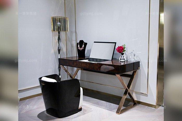 高端后现代轻奢蓝冠注册品牌卧室时尚梳妆台妆椅组合