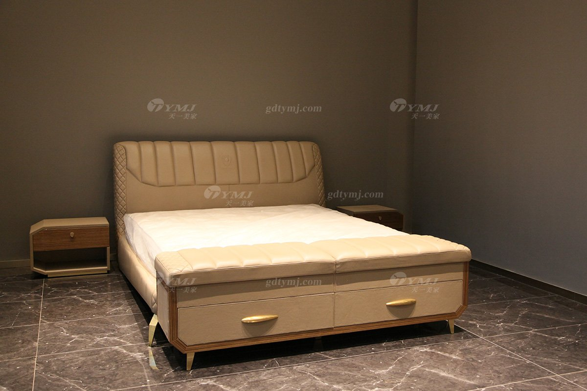 奢华高端100%纯意大利进口蓝冠注册品牌时尚轻奢别墅蓝冠注册卧室双人大床系列