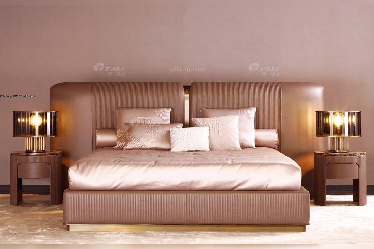 时尚轻奢意大利100%纯进口蓝冠注册别墅豪宅蓝冠注册品牌卧室双人大床
