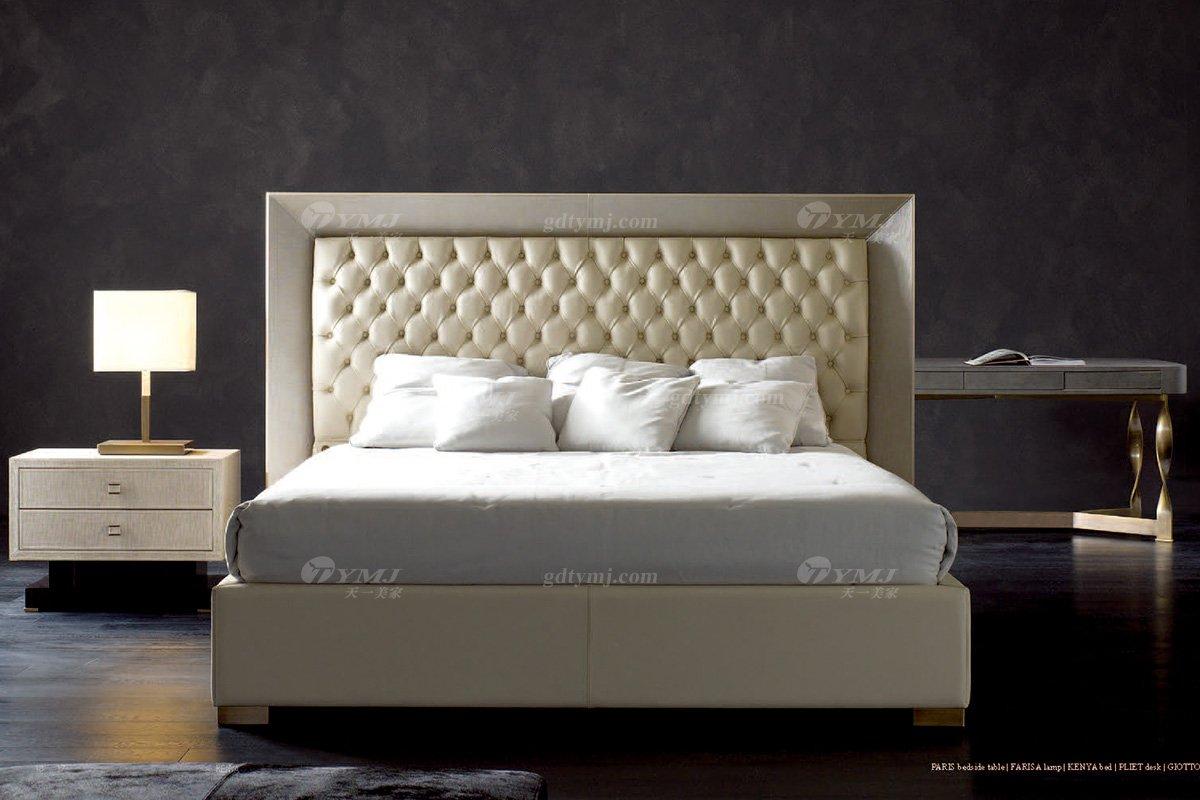 奢华100%意大利纯进口蓝冠注册时尚轻奢蓝冠注册品牌卧室双人大床