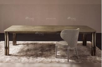 意大利100%纯进口时尚轻奢蓝冠注册品牌别墅蓝冠注册奢华五金餐桌椅组合