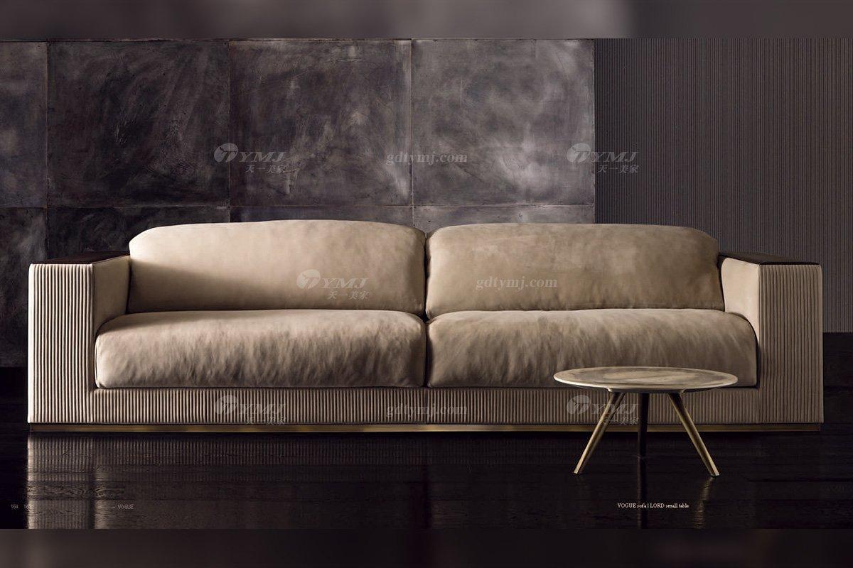 时尚轻奢蓝冠注册品牌意大利100%纯进口别墅蓝冠注册客厅真皮沙发沙发