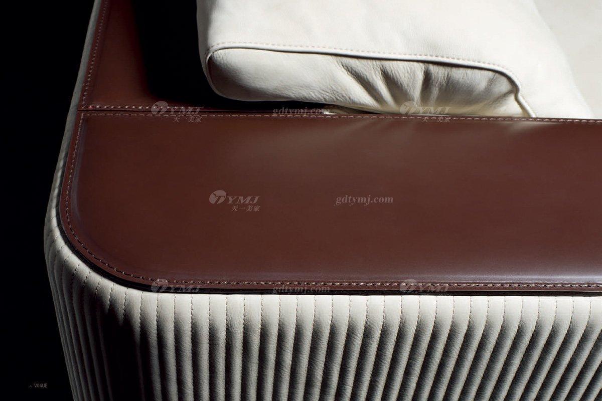 时尚轻奢蓝冠注册品牌意大利100%纯进口别墅蓝冠注册客厅真皮沙发沙发细节