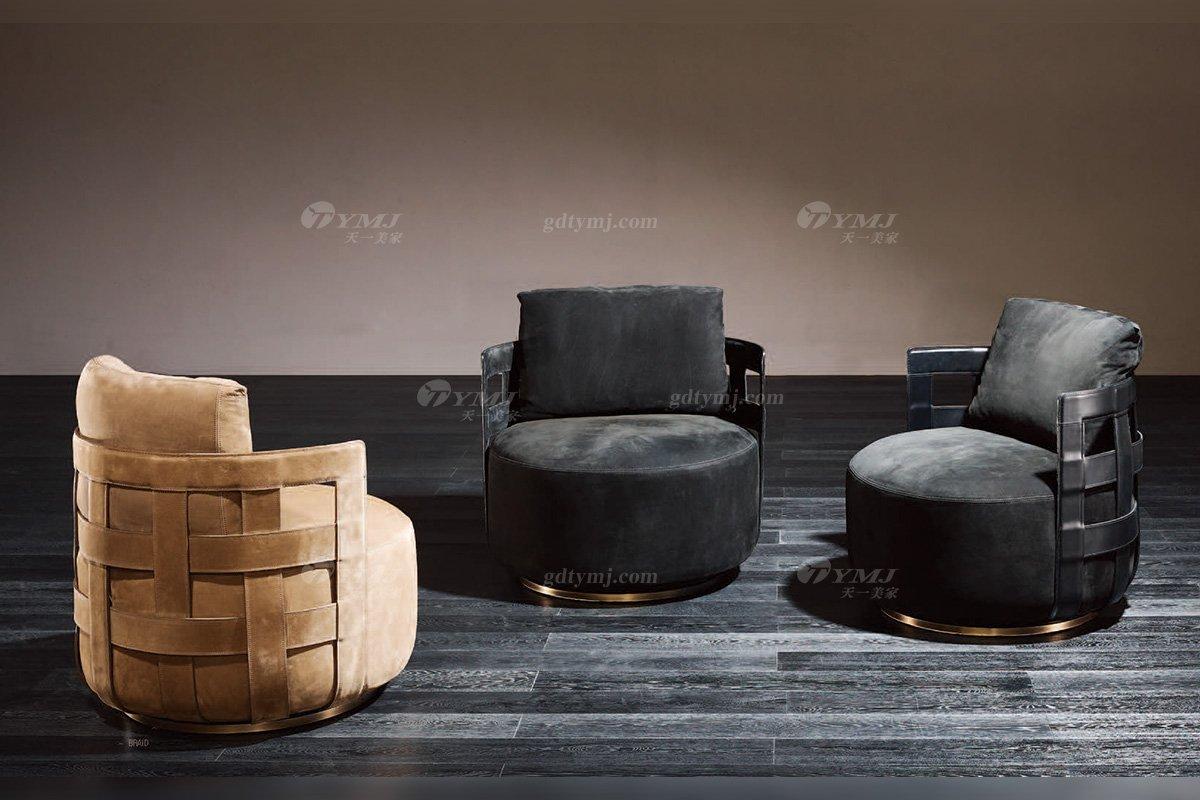 高端奢华意大利纯进口蓝冠注册品牌时尚轻奢别墅蓝冠注册五金布艺单位沙发系列