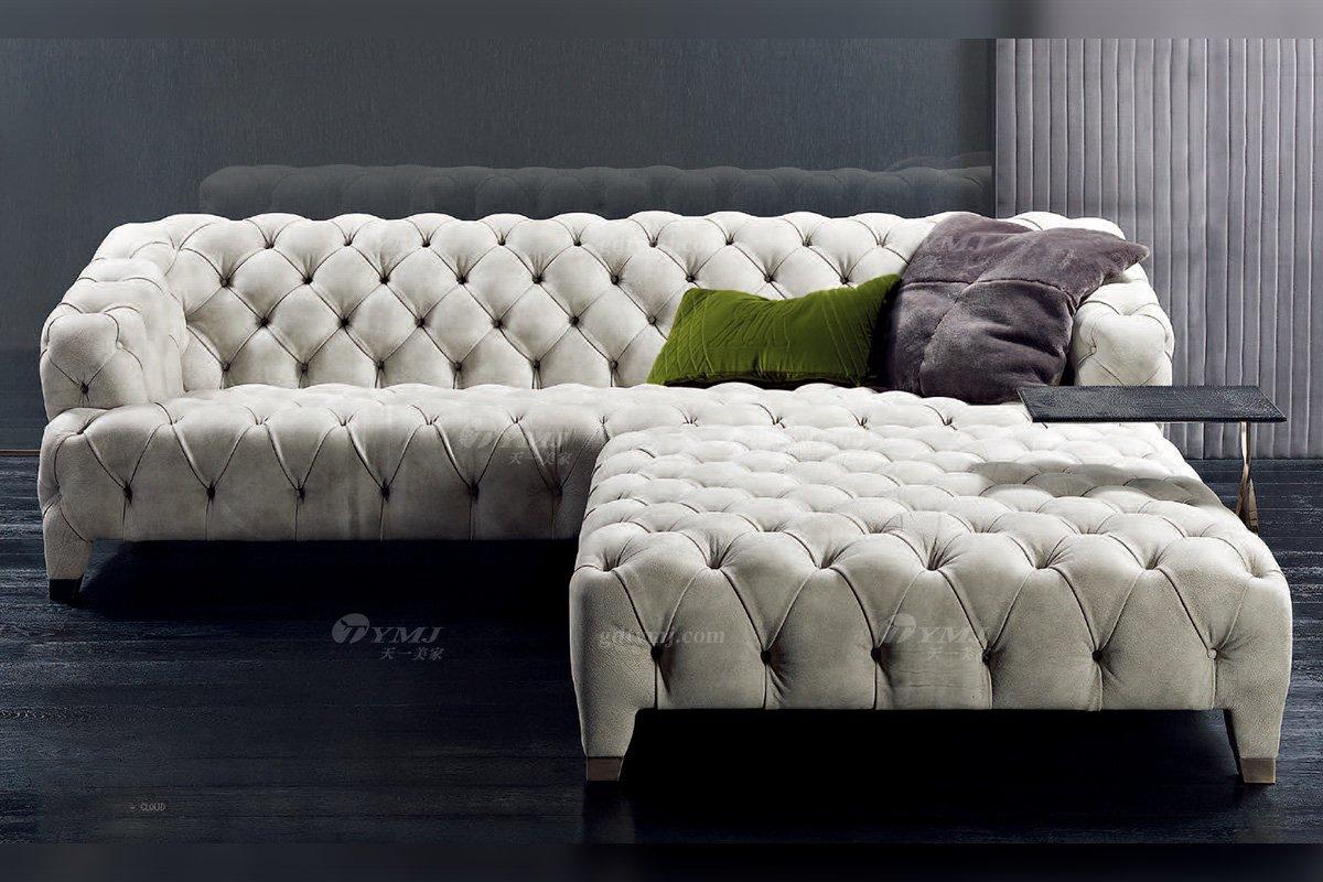 时尚轻奢别墅蓝冠注册意大利纯进口品牌创意拉扣高弹海棉沙发沙发2