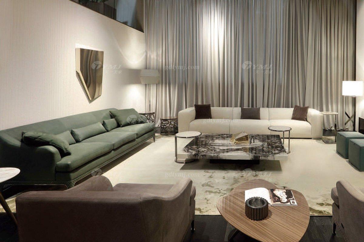 时尚轻奢蓝冠注册意大利纯进口奢华品牌客厅真皮沙发组合系列