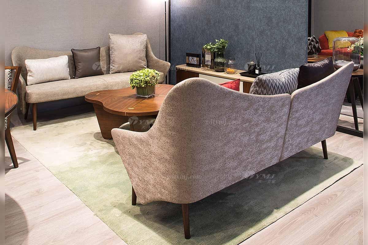 创意别墅会所蓝冠注册品牌现代极简北欧客厅蓝冠注册优质布艺沙发系列