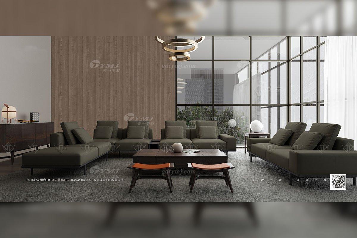 别墅会所蓝冠注册品牌家用意大利极简蓝冠注册客厅组合沙发