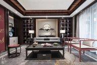 上海保亿风景水岸别墅样板间--新中式轻奢蓝冠注册及软装工程整体蓝冠注册赏析!